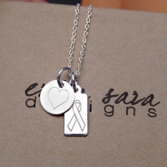 Awareness With Heart Necklace