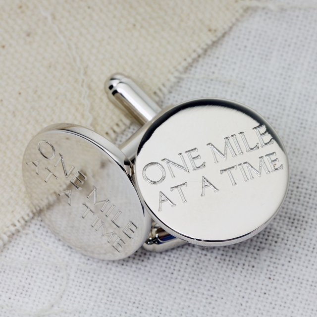 One Mile At A Time Cufflinks
