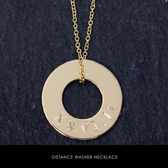 Custom Distance Running Necklace