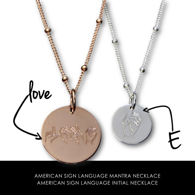 American Sign Language Necklaces
