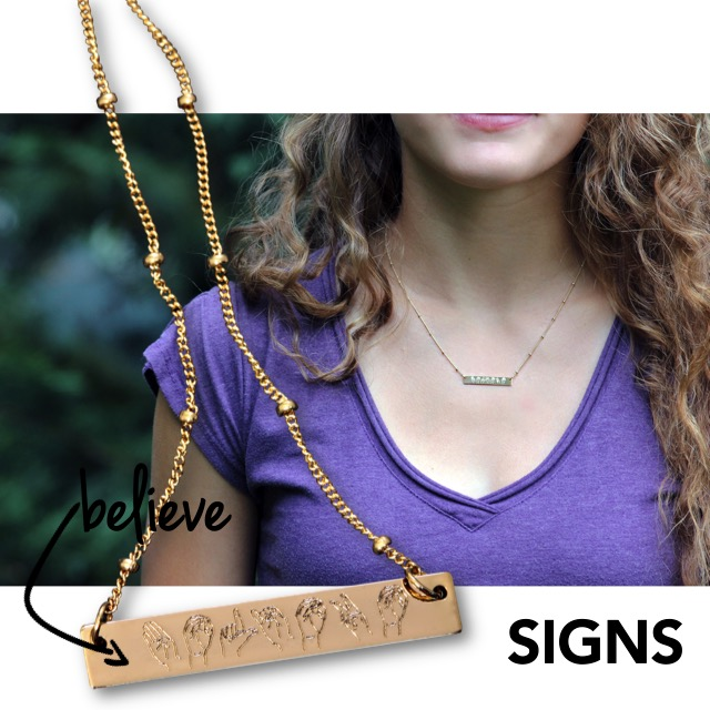 American Sign Language Necklace