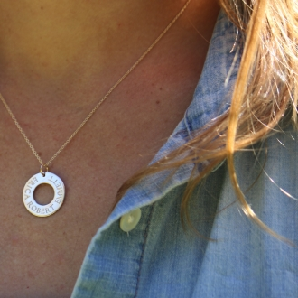 Family Washer Necklace
