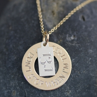 Mantra & Distance Washer Necklace
